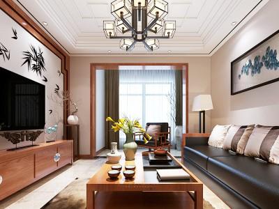 中式古典-61平米一居室整装装修样板间