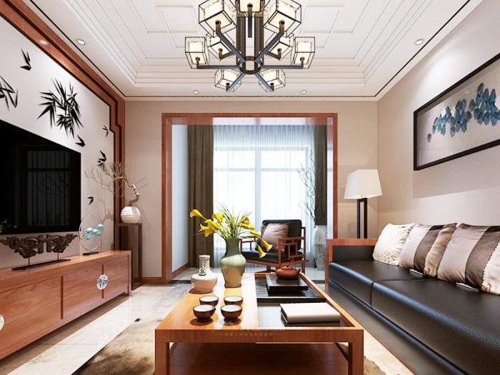中式古典-61平米一居室整装-装修样板间