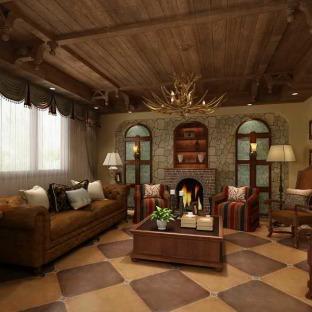 欧式风四居室客厅装修效果图