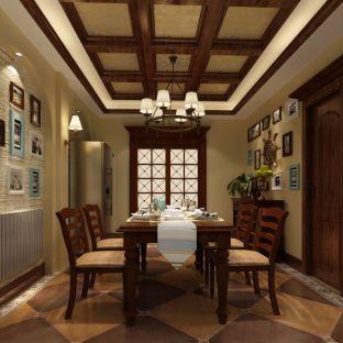 欧式风四居室餐厅装修效果图