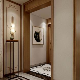 中式古典四居室玄关装修效果图