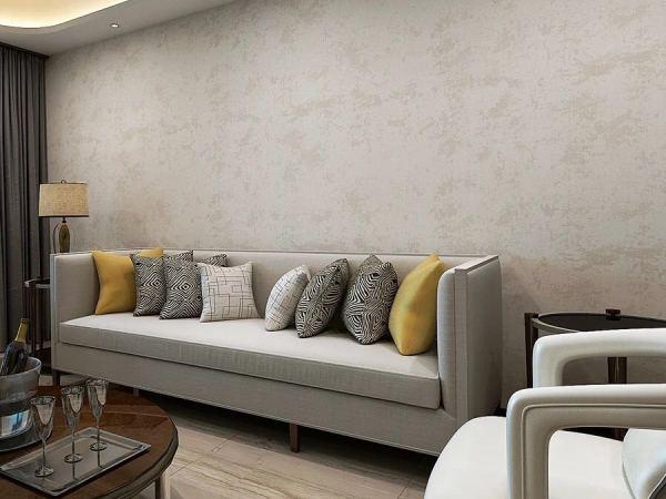 天洋 无缝墙布客厅简约现代素色防水立体背景墙 提花壁布