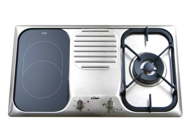 CHEF厨师牌原装进口嵌入式气电多功能炉具F11DS