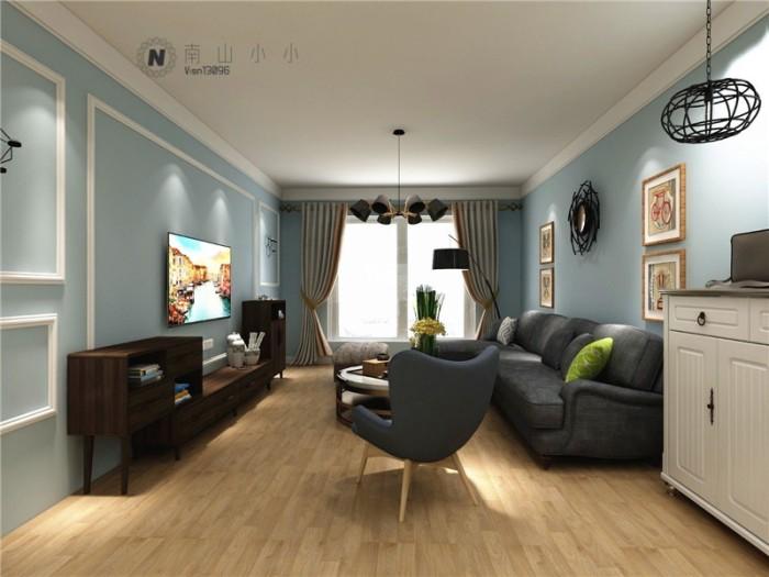 北欧风格-126平米三居室整装-装修样板间