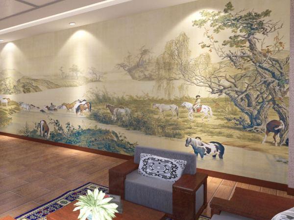 天洋大型壁画无缝定制背景墙 现代高档电视沙发卧室客厅壁布墙画