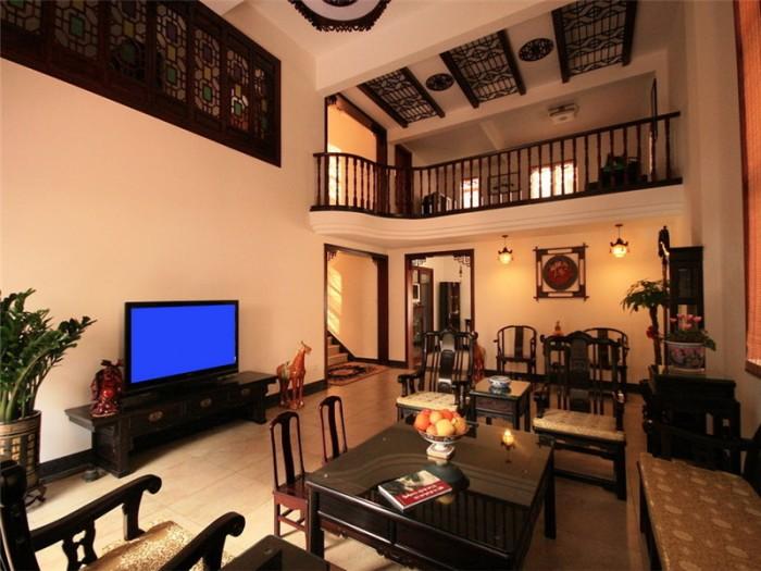 中式古典-480平米别墅整装-装修样板间