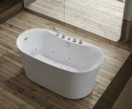 箭牌浴缸 亚克力家用1.5m独立式卫生间气泡按摩浴缸图片