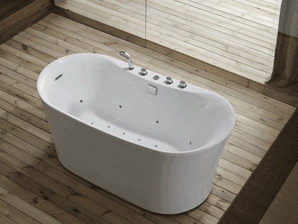 箭牌浴缸 亚克力家用1.5m独立式卫生间气泡按摩浴缸