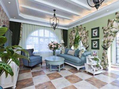 地中海风格-97.58平米三居室整装装修样板间