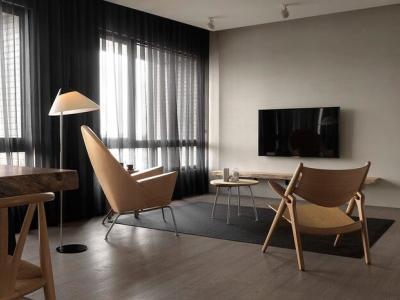 现代简约-56平米一居室整装装修样板间
