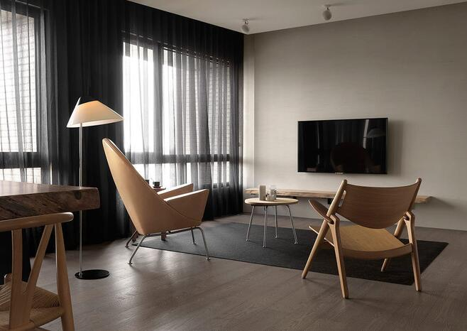 现代简约-56平米一居室整装-装修样板间