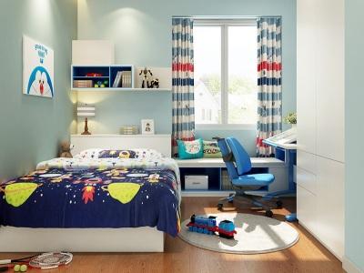 简欧风格-126平米三居室软装装修样板间