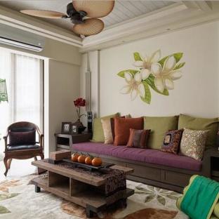 东南亚风格装修 清新淡雅的家