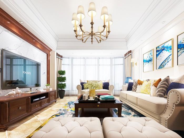 中式古典-129平米二居室整装-装修样板间