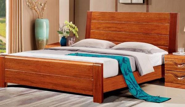 房天下胡桃木实木大床--中式经典,简约大方