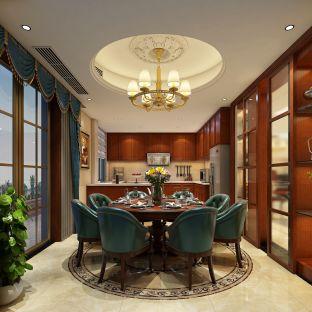 美式风格五居室餐厅装修效果图
