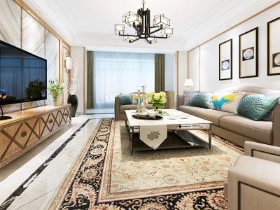 简欧风格-230平米五居室整装装修样板间