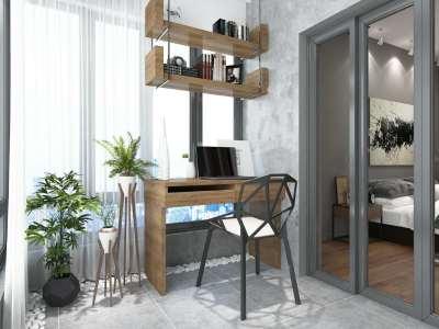 北欧风格-122平米三居室整装装修样板间