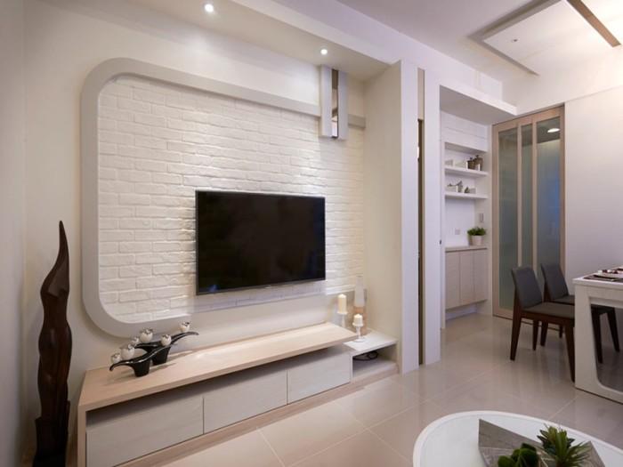 混搭风格-98平米三居室整装-装修样板间