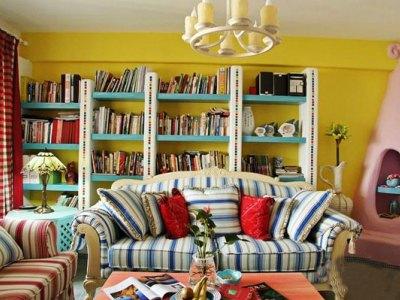 地中海风格-86平米二居室整装装修样板间