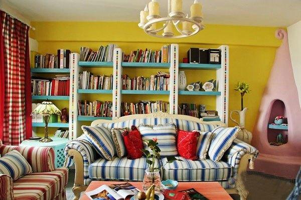 地中海风格-86平米二居室整装-装修样板间