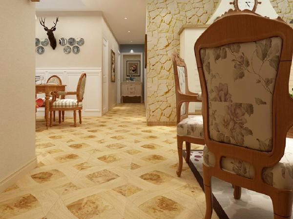 白栎/树榴 尼哥瑞尔 实木复合地板
