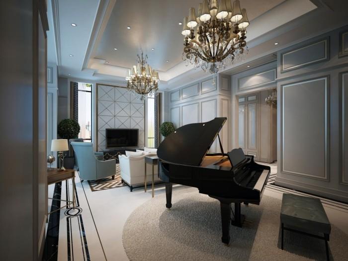 新古典风格-255平米五居室整装-装修样板间
