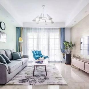 现代简约二居室客厅装修效果图