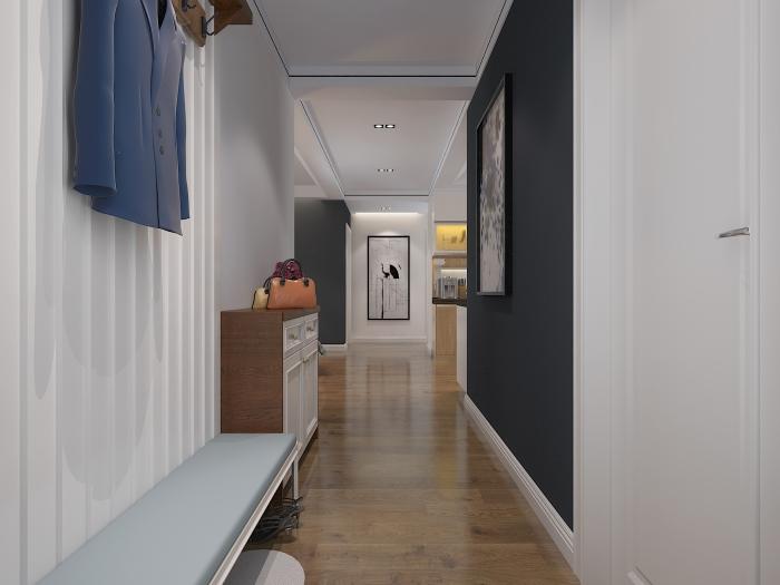现代简约-130.52平米三居室-装修样板间