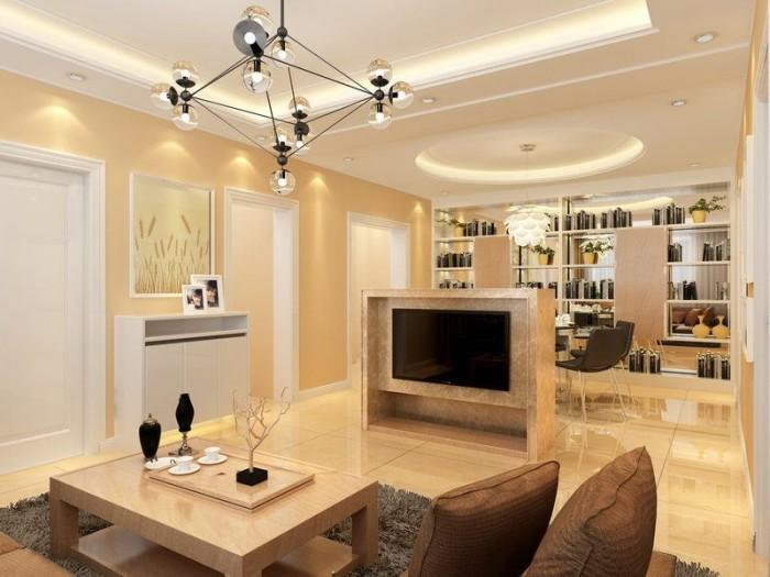 美式风格-105平米三居室整装-装修样板间