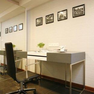 现代简约四居室书房装修效果图