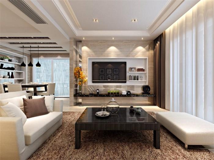 现代简约-100平米三居室整装-装修样板间
