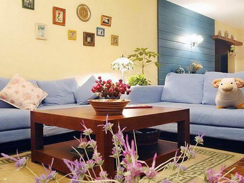 地中海风格-99平米二居室整装-装修样板间