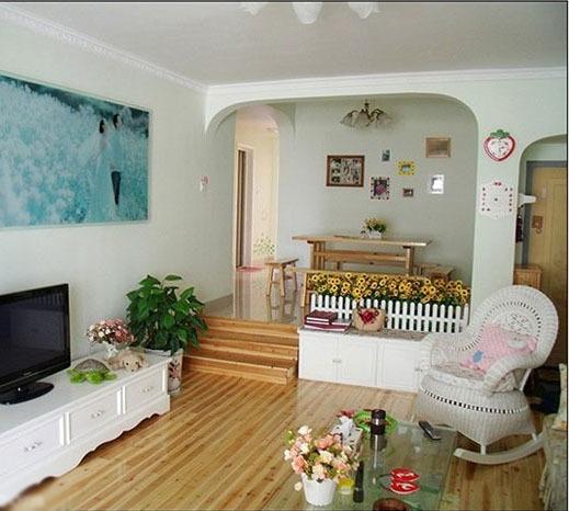 田园风格-119平米三居室整装-装修样板间