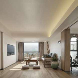 简约中式三居室装修效果图