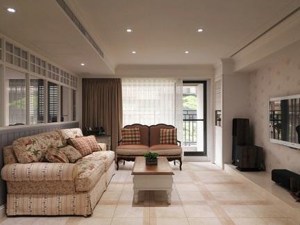 田园风格-97平米三居室整装装修样板间