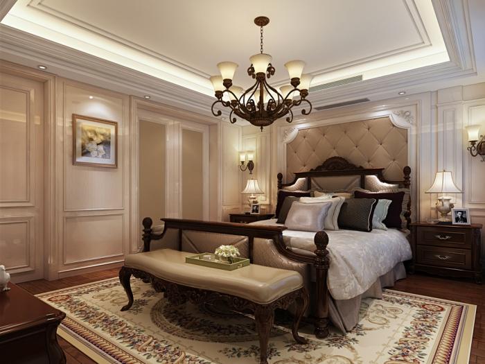 欧美风情-285平米一居室整装-装修样板间