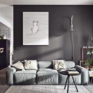 北欧三居室装修效果图