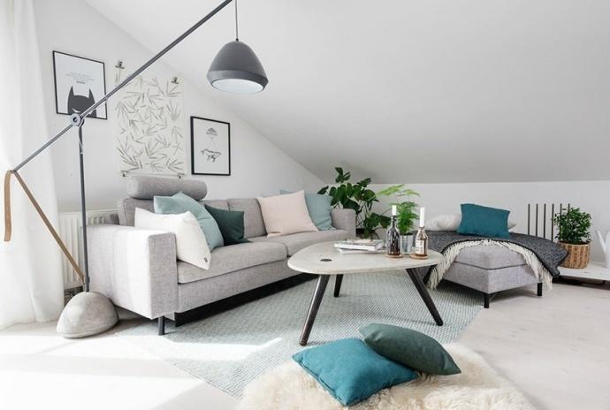 北欧风格-73平米一居室整装-装修样板间