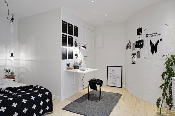 48平黑白灰宜家风 简约小公寓