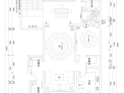 中式古典-240平米五居室装修样板间