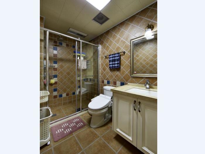 美式-125平米三居室-装修样板间