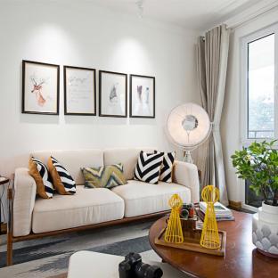 混搭风格四居室装修效果图