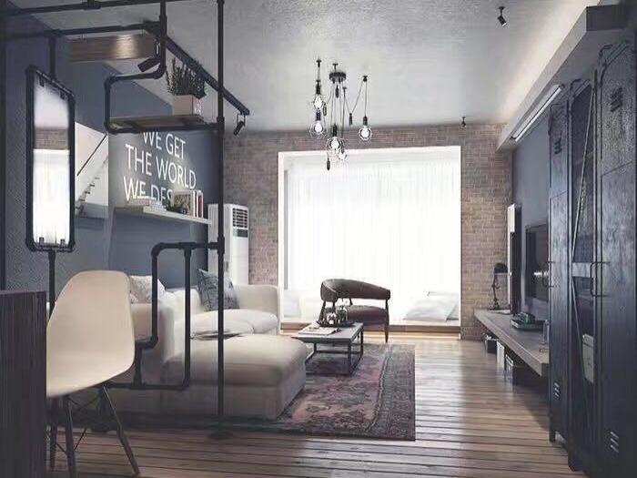 现代简约-58平米一居室整装-装修样板间