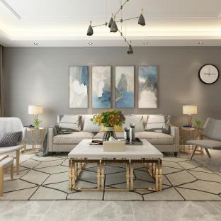 简约风格二居室装修效果图