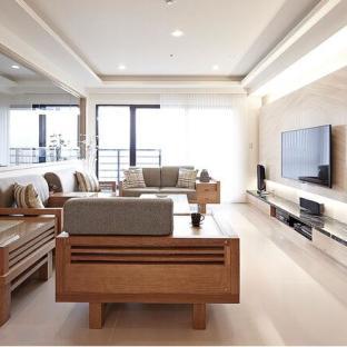 原木日式设计风格 打造温暖三口之家
