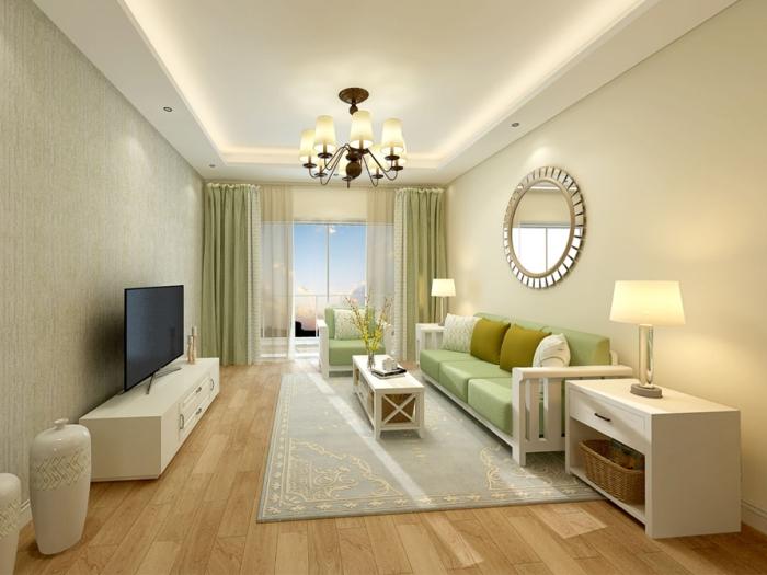 田园风格-108平米三居室整装-装修样板间