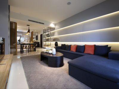 新中式-123平米三居室装修样板间