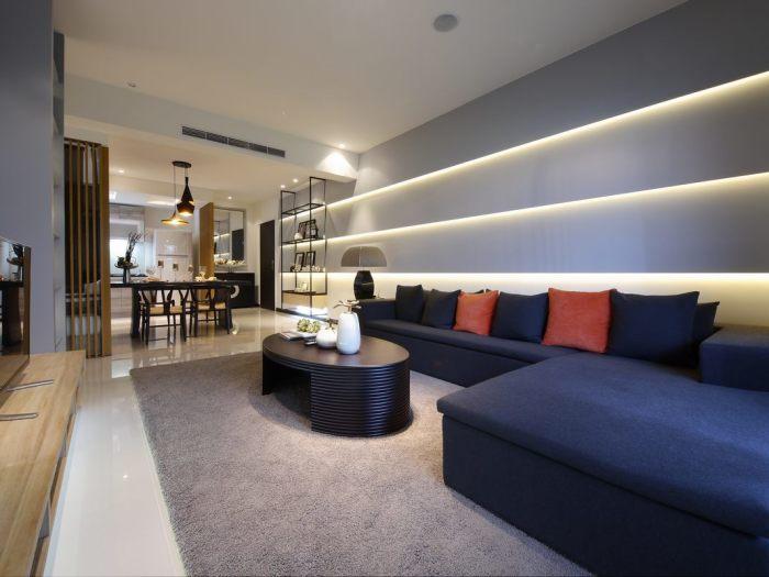 新中式-123平米三居室-装修样板间