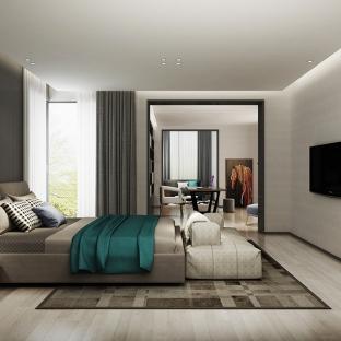现代简约别墅卧室装修效果图